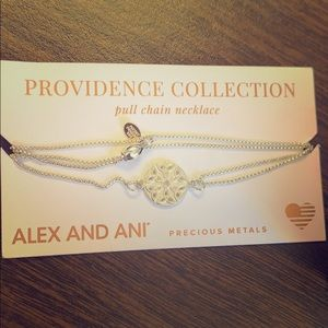 Alex & Ani- .925 Endless Knot Pull Chain Necklace